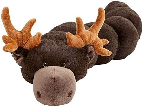 "Pillow Pets BodyPillars Chocolate Moose - 30"" Cozy Stuffed Animal Plush Body Pillow"