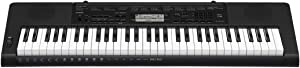 Casio CTK-3500 61-Key Touch Sensitive Portable Keyboard with Power Supply,Black