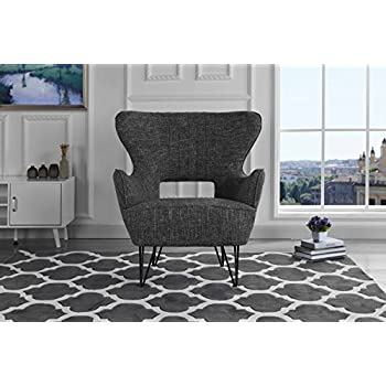 Amazon Com Medici Tufted Leather Modern Accent Chair