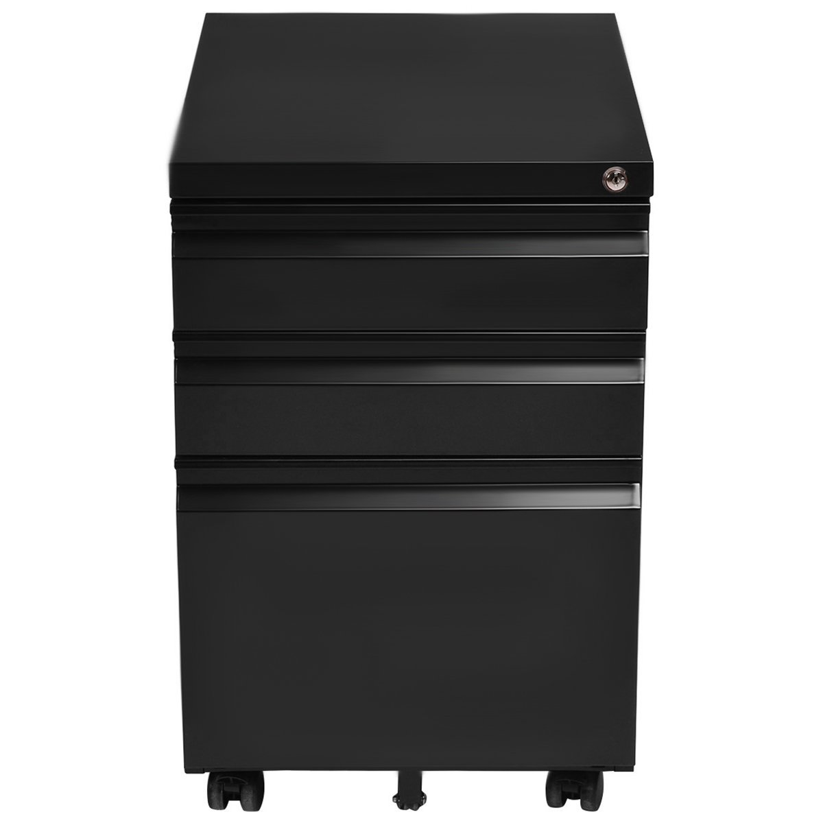 Giantex Rolling Mobile File W/3 Lockable Drawers and Pedestal for Office Study Room Home Steel Storage Cabinet by Giantex (Image #4)