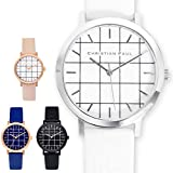CHRISTIAN PAUL クリスチャンポール ユニセックス ボーイズ GRL 35mm Grid Collection 腕時計 グリッド 格子柄 レザーバンド カラー4色 [並行輸入品]