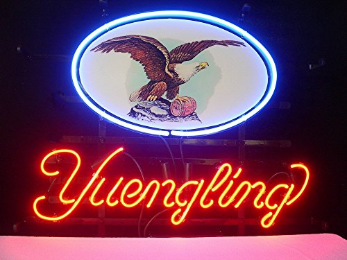 Yuengling Lager Eagle Beer Bar Pub Store Party Room Wall Windows Display Neon Signs 19x15