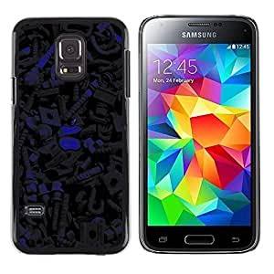 Shell-Star Arte & diseño plástico duro Fundas Cover Cubre Hard Case Cover para Samsung Galaxy S5 Mini / Galaxy S5 Mini Duos / SM-G800 !!!NOT S5 REGULAR! ( Dark Pattern )