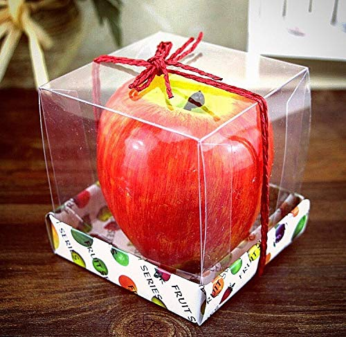 - Best Teacher Gift Apple Candle for Women Teacher Appreciation | Extra Large Size Red Artificial Wax Apple Scented Candle | Christmas Home Decorations Artificial Apple Wax Lover