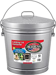 Behrens 6110 10-Gallon Locking Lid Can