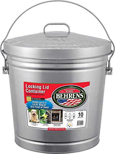Large Garbage Pail (Behrens 6110 10-Gallon Locking Lid Can)