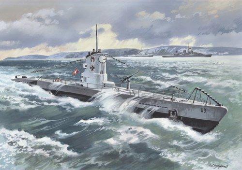 ICM German U-boat type IIB 1939 years 1/144 S009