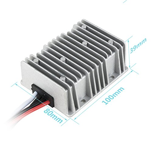 uxcell NEW BIG-SIZE Waterproof DC 12V Step-Up to DC 48V 8A 384W Car Power Supply Module Voltage Booster Converter Regulator by uxcell (Image #4)