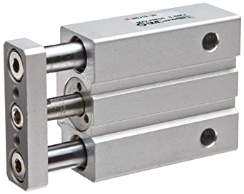 SMC MGJ Series  Miniture Air Cylinder with Guide Rod Plate, Compact, Double Acting, Switch Ready, Cushioned