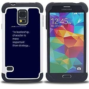 - leadership character blue text quote - - Doble capa caja de la armadura Defender FOR Samsung Galaxy S5 I9600 G9009 G9008V RetroCandy