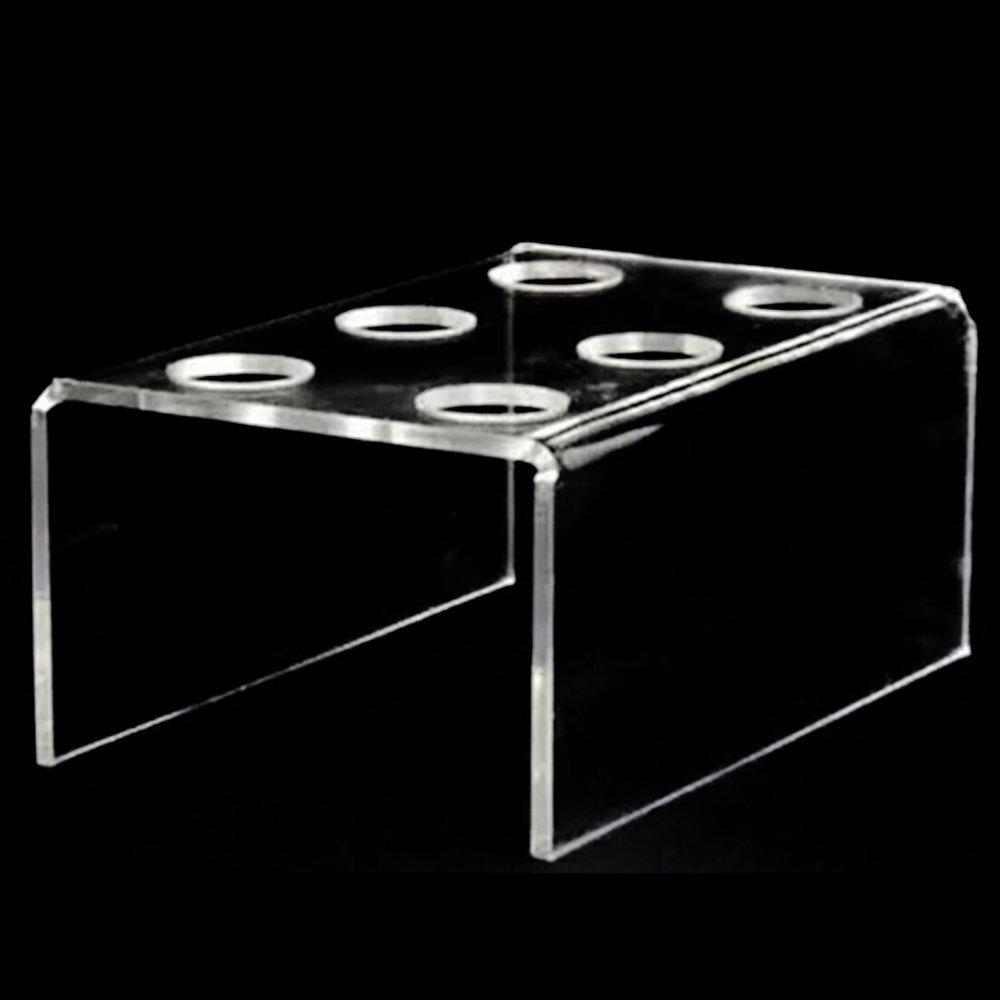 6-Hole Acrylic Clear Cupcake Ice Cream Cone Display Holder Stand