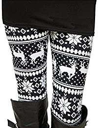 Womens Ultra Soft Brushed Christmas Leggings Pants Ankle Length,XS-3XL