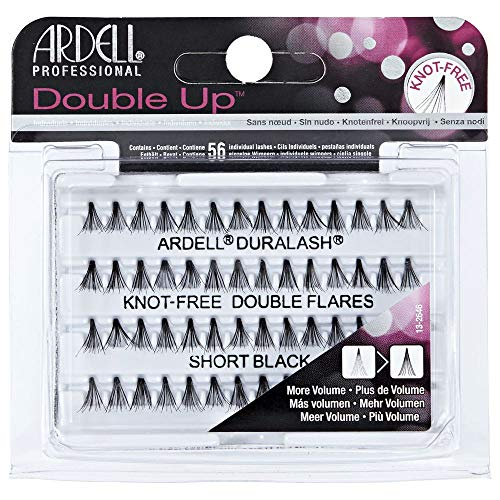 Ardell Double Individuals Knot Free Double Flares Black Short (3 Pack)