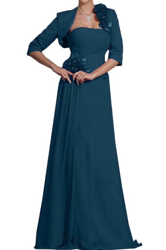 Missdressy Schick Chiffon Lang mit Bolero Blumen Falten Abendkleider  Partykleider Mutterkleider: Amazon.de: Bekleidung