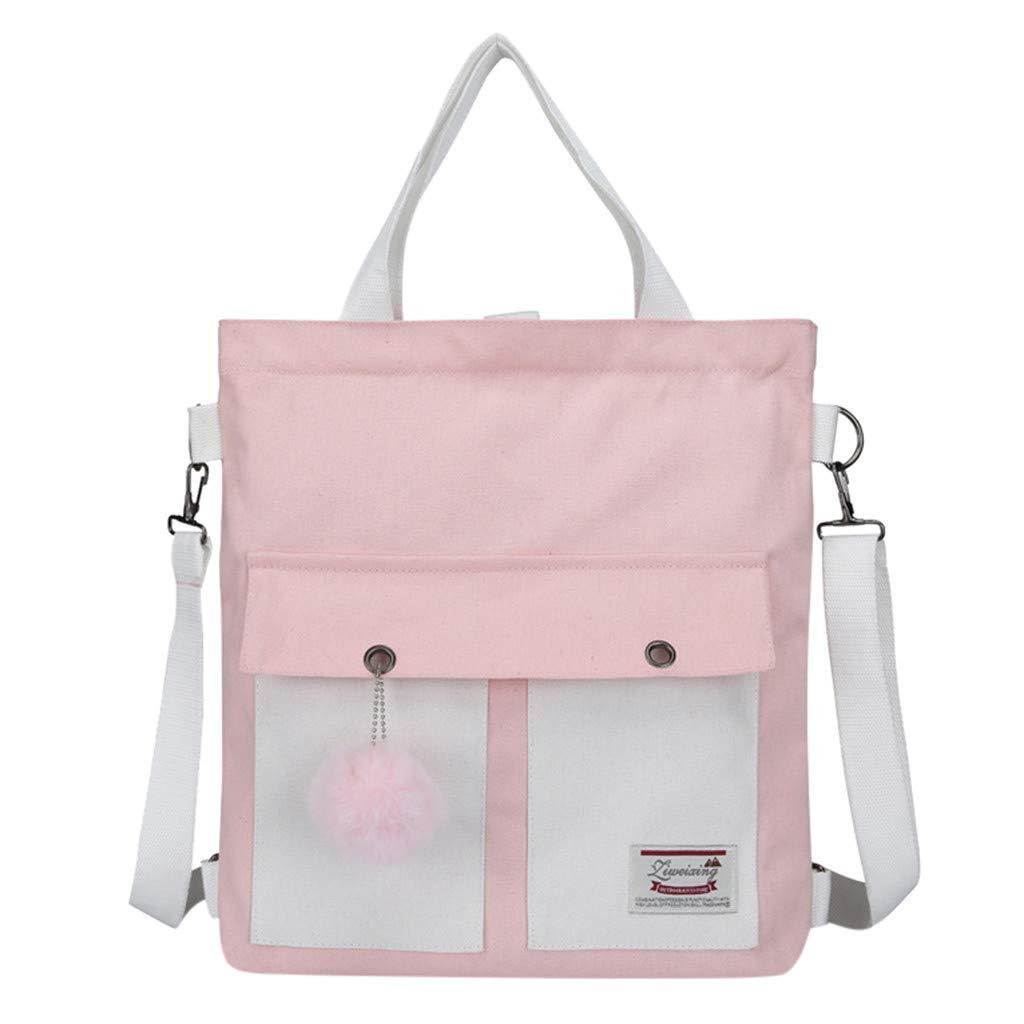 Arrowsy Fashion Three-use Women Bag Multi-Function Backpack Large Capacity Diagonal Bag (Pink)