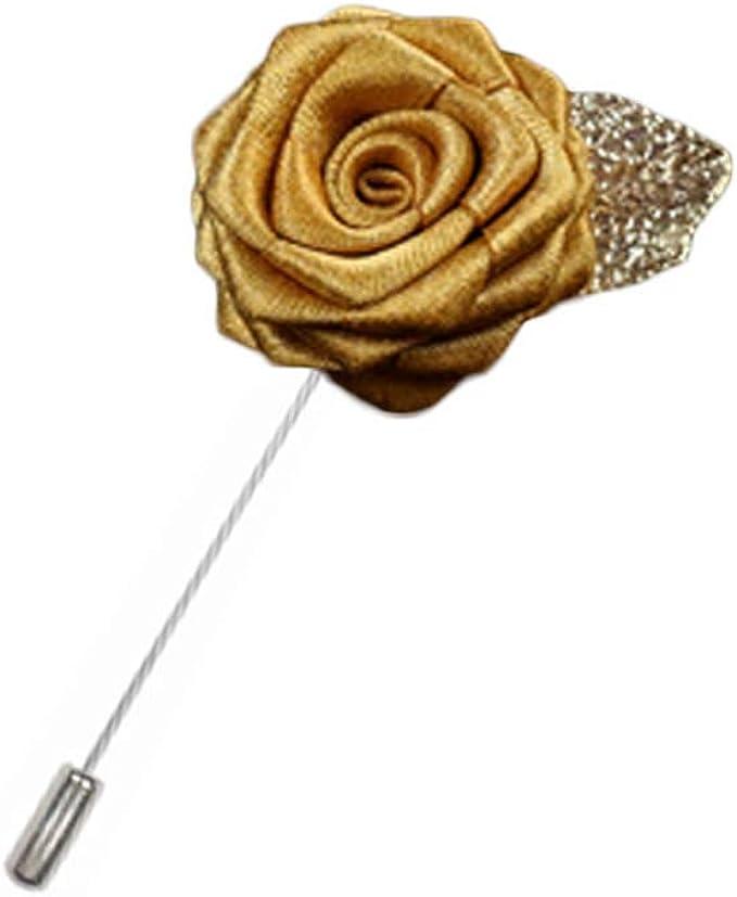Rosa flor solapa Pin hombres traje broche moda regalo, A17: Amazon ...
