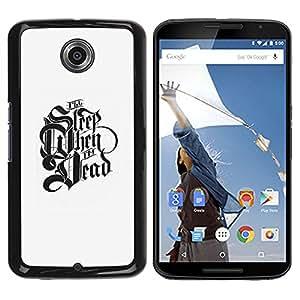 GOODTHINGS Funda Imagen Diseño Carcasa Tapa Trasera Negro Cover Skin Case para Motorola NEXUS 6 / X / Moto X Pro - dormir el tiempo de motivación cuando muertos
