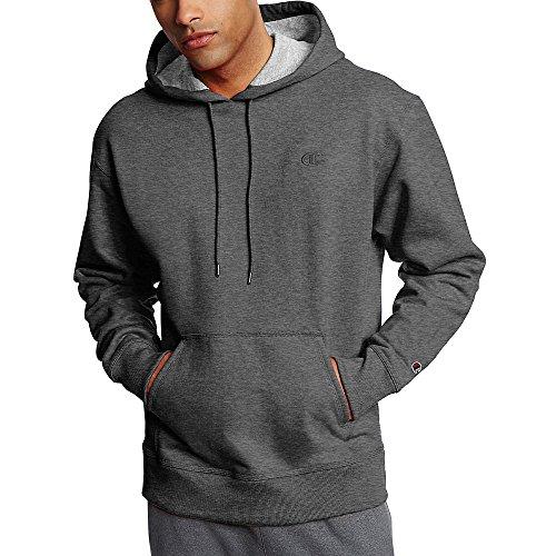 Champion Men's Powerblend Fleece Pullover Hoodie_Granite Heather_XL