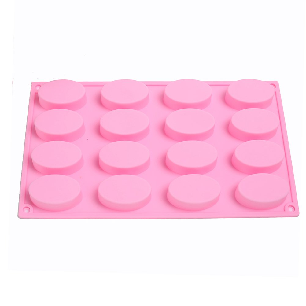 SK 16 Oval Cavities Chocolate Candy Maker Silicone Mold Cake Baking Mold Muffin Cup 4336902636