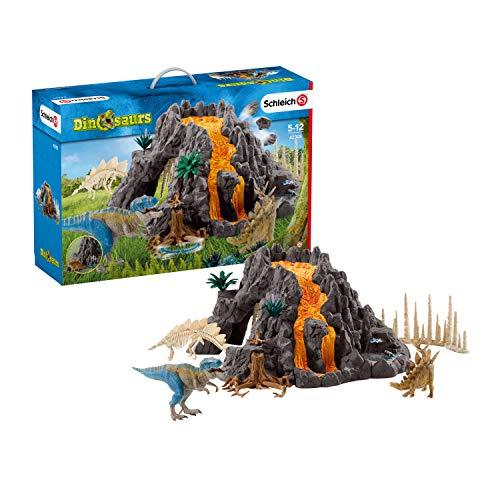 《슈라이히》 공룡 대화산과 티라노사우루스 공룡 빅 세트 피규어 42305