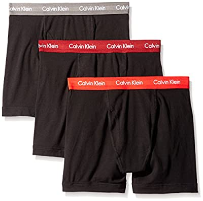 Calvin Klein 3 Pack Boxer Briefs Stretch Black Men's Underwear