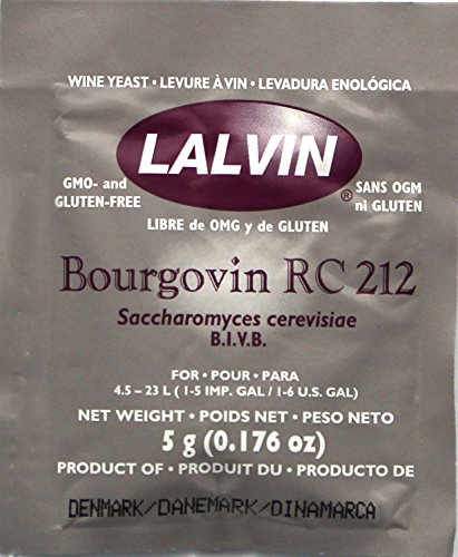 Lalvin Bourgovin RC 212 Wine Yeast, 5 grams - 5-Pack