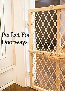 perfeccionan en las puertas 4 Pack peque/ño protector de bajo perfil beb/é Protector de pared de puerta proteger y proteger paredes de Kid para perros y mascotas puertas Wall Nanny Mini