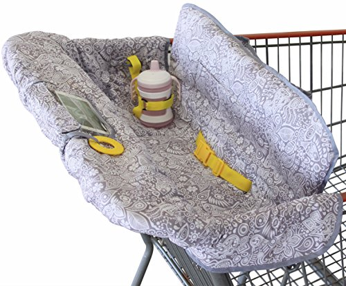 Shopping Cart Cover for Baby or Toddler | 2-in-1 High Chair Cover | Compact Universal Fit | Unisex for Boy or Girl | Includes Carry Bag | Machine Washable | Fits Restaurant Highchair | Sweet Dreams -
