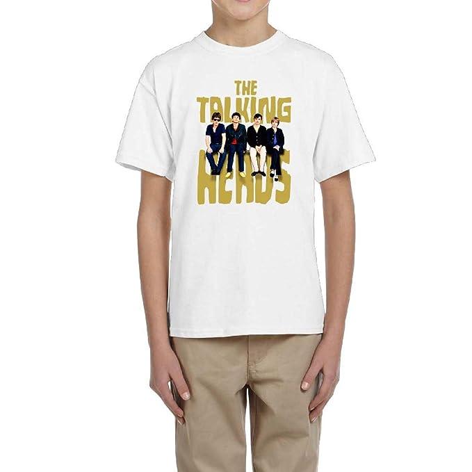 de00d3d5 Talking Heads Cotton Youth Boys Girls Teenager Short Sleeves T Shirt Cool  Tshirts White S