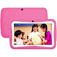 7 inch WIFI Tablet PC Android 4.4 KitKat Quad Core 8G Storage HD 1024 x 600 LCD Display Tablet for Kids Education Entertainment