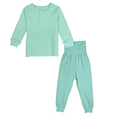 16020c61de0a BINIDUCKLING Kids Pyjamas 100% Cotton Boys Girls Plain Sleepwear Pjs ...