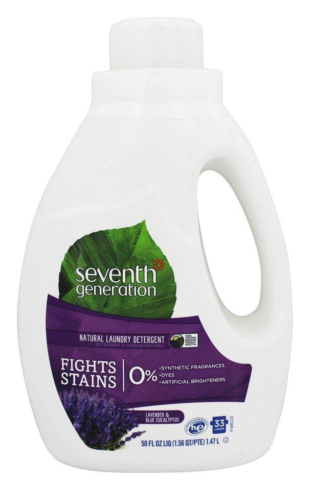 Seventh Generation Laundry Products Blue Eucalyptus 0 Lavender High Efficiency Liquids 2X Concentrates 32 Loads 50 fl. oz. 220960