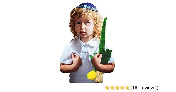 Quality Judaica Childrens Plush Lulav and Etrog Toy Set for Sukkot
