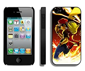 Hot Sale iPhone 4 4S Screen Cover Case With Pokemon 35 Black iPhone 4 4S Case Unique And Beautiful Designed Phone Case