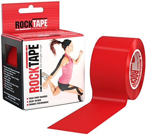 Rocktape Kinesiology Tape for Athletes, Red, 2