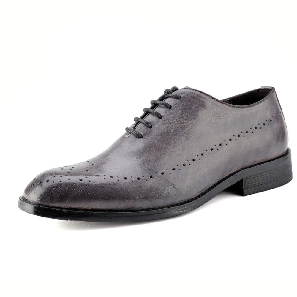 Sunny&Baby Herrenmode Oxford Casual British Style Klassische Schuhe Retro Pinsel Farbe Brogue Schuhe Klassische Abriebfeste (Farbe : Grau, Größe : 47 EU) Grau de4b98