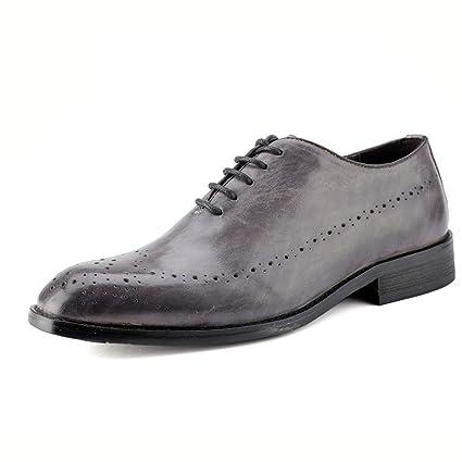 1fb21db6d846 Amazon.com: Hilotu Men's Business Wingtip Lace-up Oxfords Casual ...