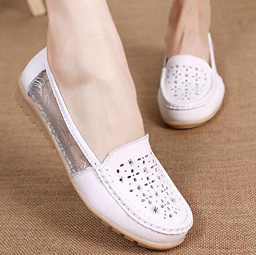 Sandalias Zapatos B SHANGXIAN Respirable C Verano CN36 Zapatos Las UK4 US6 EU36 Pisos Mujeres Fondo Suave Playa Sencillo Chicas De Casual fEEqt