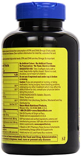 031604013288 - Nature Made Fish Oil Omega-3, 1200mg, 100 Softgels carousel main 5