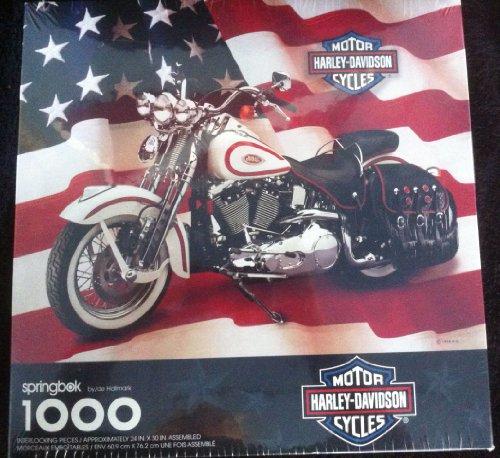 Springbok Harley-Davidson Motorcycles Jigsaw Puzzle 1000 Pieces-1998