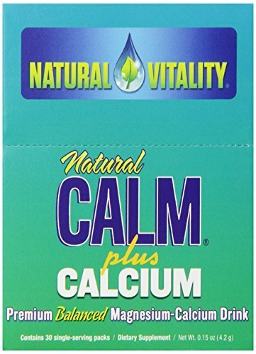 Natural Vitality Natural Calm Plus Calcium Packets, Original, 30 Count by Natural Vitality -