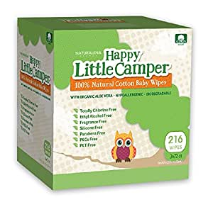 Amazon.com: Happy Little Camper Baby Wipes, Natural All ...
