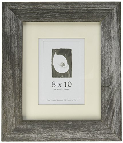 8×10 Farmhouse Barnwood Picture Frame w/Real Glass (Charcoal) Review