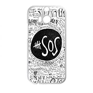 2015 Fashion 5 Seconds of Summer-the Sex Pistols Cover Case For HTC M8 Cover Hard Popular Phone for HTC One M8 Case-01