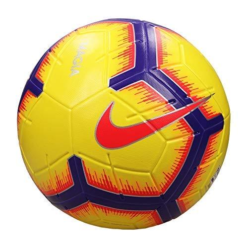 나이키(NIKE)  마지아 축구 공 5 호 공 색상 : 하이 비즈 옐로우  F 크림슨] # SC3321-710
