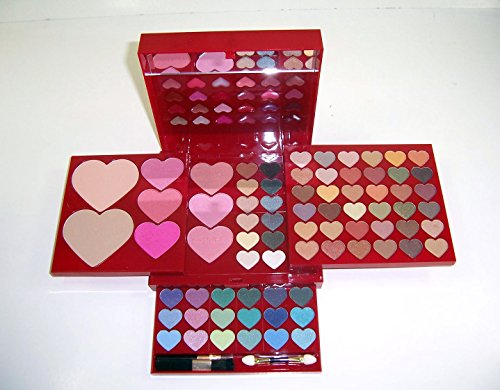 Shany © 100pc Makeup Kit Heart and Kisses - Eyeshades, Blus