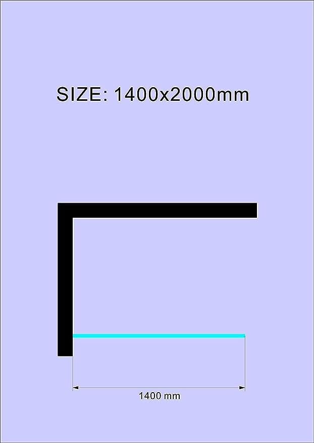 LILY BuyLando 160x200 cm // 10 mm salle de bain. verre de s/écurit/é en verre transparent Paroi de douche