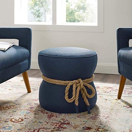 Reviewed: Modway Beat Upholstered Fabric Nautical Rope Round Ottoman