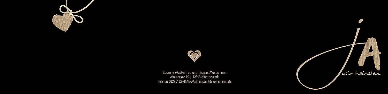 Hochzeitskarten  Einladung natürlich Ja 2, hochwertige hochwertige hochwertige Einladung zur Heirat inklusive Umschläge   30 Karten (format  148.00x105.00mm) Farbe  Braun B074Z4VCRQ | Ästhetisches Aussehen  | Die Qualität Und Die Verbraucher Zunächst  | Erlesene Mate 778bc8
