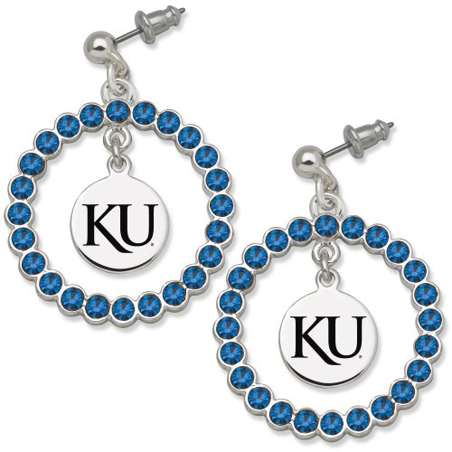NCAA Kansas Jayhawks LogoArt Spirit Earrings